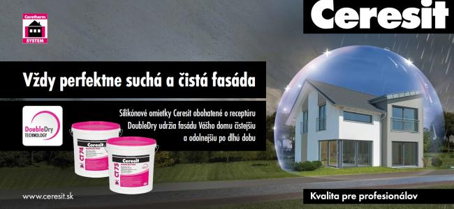 DoubleDry technology Omietky Ceresit